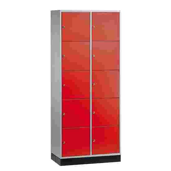 """Sluitvakkast voor grote ruimten """"S 4000 Intro"""" (5 vakken boven elkaar) 195x85x49 cm/ 10 vakken, Vuurrood (RAL 3000)"""