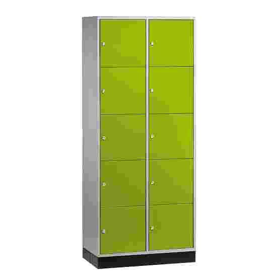 """Sluitvakkast voor grote ruimten """"S 4000 Intro"""" (5 vakken boven elkaar) 195x85x49 cm/ 10 vakken, Viridiaangroen (RDS 110 80 60)"""
