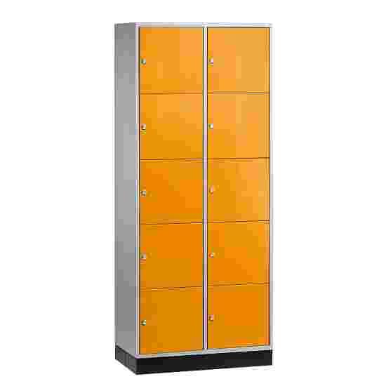 """Sluitvakkast voor grote ruimten """"S 4000 Intro"""" (5 vakken boven elkaar) 195x85x49 cm/ 10 vakken, Geel-oranje (RAL 2000)"""