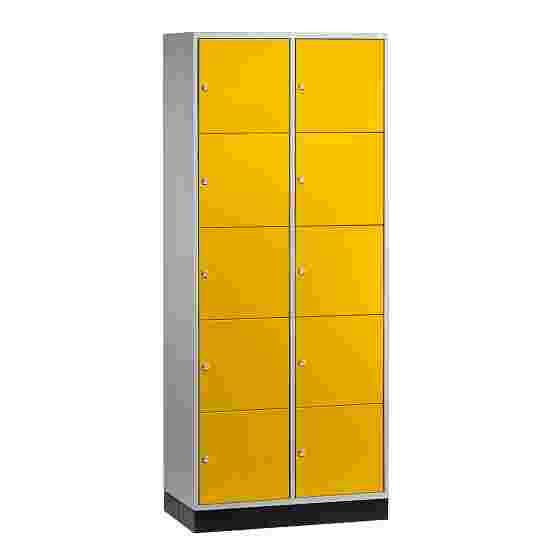 """Sluitvakkast voor grote ruimten """"S 4000 Intro"""" (5 vakken boven elkaar) 195x85x49 cm/ 10 vakken, Fel geel (RDS 080 80 60)"""