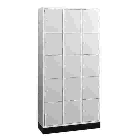 """Sluitvakkast voor grote ruimten """"S 4000 Intro"""" (5 vakken boven elkaar) 195x122x49 cm/ 15 vakken, Lichtgrijs (RAL 7035)"""