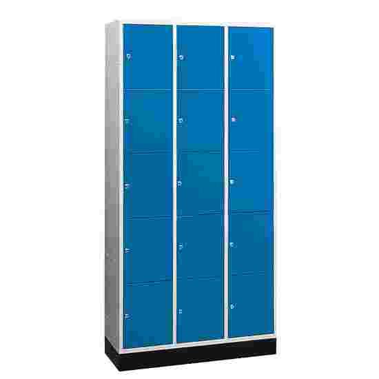 """Sluitvakkast voor grote ruimten """"S 4000 Intro"""" (5 vakken boven elkaar) 195x122x49 cm/ 15 vakken, Gentiaanblauw (RAL 5010)"""