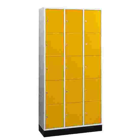 """Sluitvakkast voor grote ruimten """"S 4000 Intro"""" (5 vakken boven elkaar) 195x122x49 cm/ 15 vakken, Fel geel (RDS 080 80 60)"""