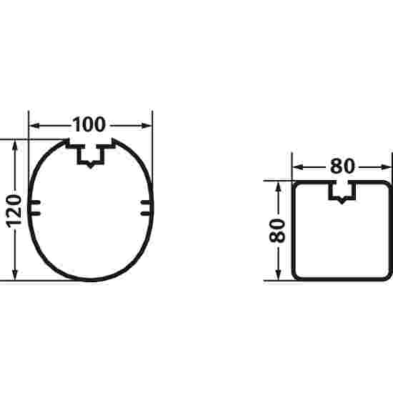 Sport-Thieme Aluminium Kleinveld-Doel  3x2m, ovaal profiel