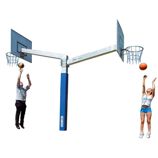 "Sport-Thieme® Basketbalinstallatie ""Fair Play Duo"" Ring ""Outdoor"", Doelbord: aluminium"
