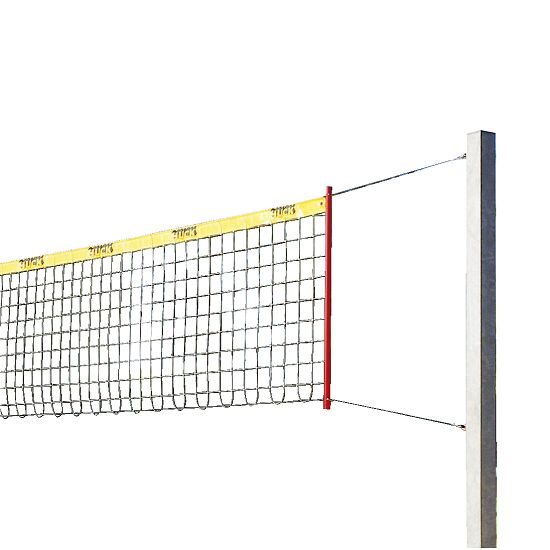 "Sport-Thieme Beachvolleybal-installatie ""Stabil"" Zonder palenbeschermkussen, Net zonder ommanteling"