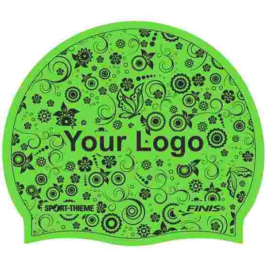 Sport-Thieme bedrukte badmuts latex Groen, Op beide zijden