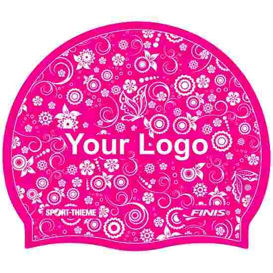 Sport-Thieme bedrukte badmuts latex Pink, Op beide zijden