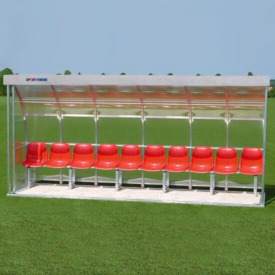 Sport-Thieme Dug-Out  Voor 10 personen Zitbank, Acrylglas