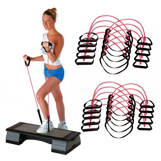 Sport-Thieme® Fitness-Step-Tube 10-delige set Roze = medium