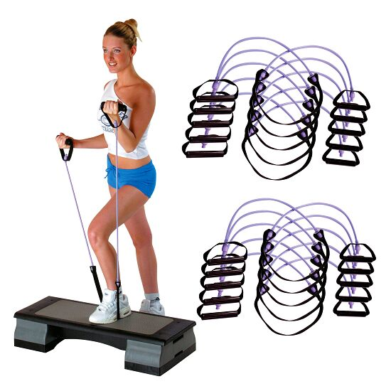 Sport-Thieme® Fitness-Step-Tube 10-delige set Violet = sterk