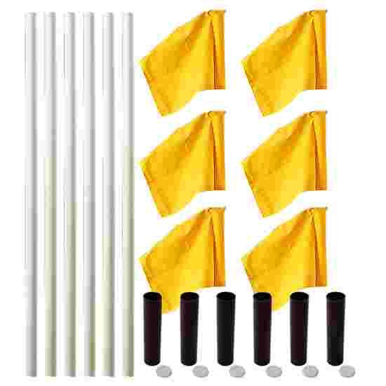 """Sport-Thieme Grenspalen-Set """"Allround"""" Paal wit, vlag neon-geel"""