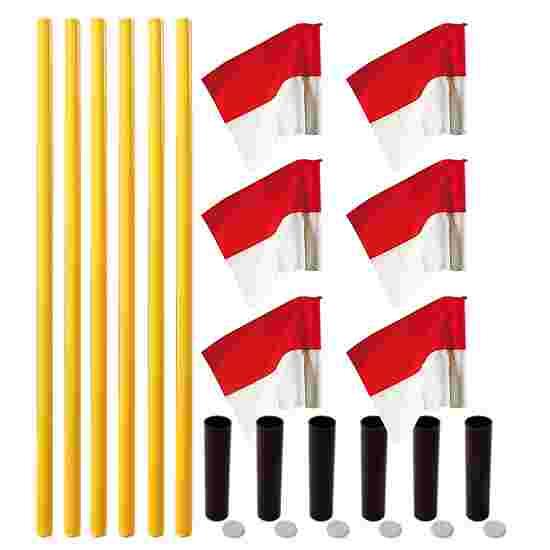 """Sport-Thieme Grenspalen-Set """"Allround"""" Paal geel, vlag rood-wit"""