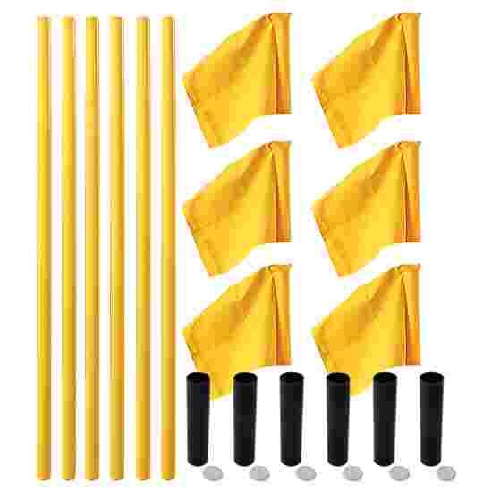 """Sport-Thieme Grenspalen-Set """"Allround"""" Paal geel, vlag neon geel"""