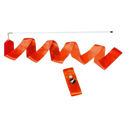 Sport-Thieme® Gymnastiek-wedstrijdlint met staaf Wedstrijd, lengte 6 m, Oranje