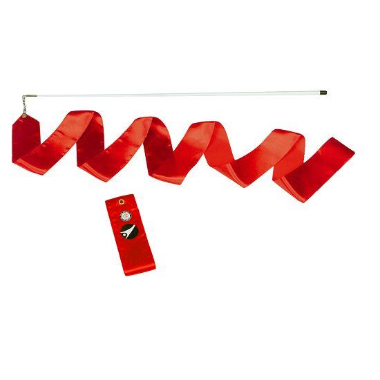 Sport-Thieme® Gymnastiek-wedstrijdlint met staaf Wedstrijd, lengte 6 m, Rood