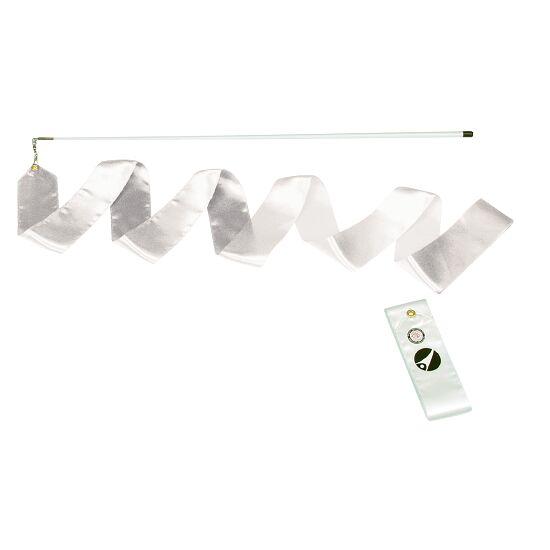 Sport-Thieme® Gymnastiek-wedstrijdlint met staaf Wedstrijd, lengte 6 m, Wit