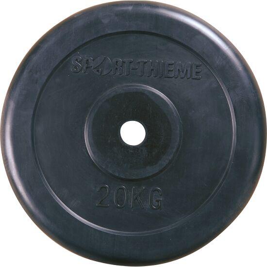 Sport-Thieme® Halterschijven met rubber bekleed 20 kg