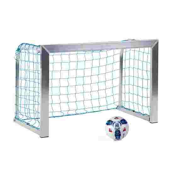Sport-Thieme Minitraining doel, met inklapbare netbeugels 1,20x0,80 m, diepte 0,70 m, Incl. net, blauw (mw 10 cm)
