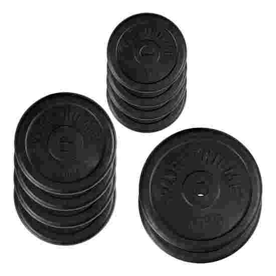 Sport-Thieme Rubberen Halterschijven-Set, 50 kg