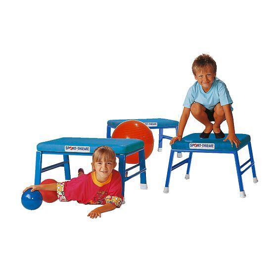 Sport-Thieme® Spring- en Turnkrukken Kunstlederbekleding, blauw