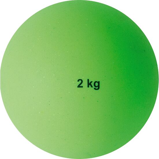 Sport-Thieme® Stootkogel van kunststof 2 kg, groen, ø 114 mm