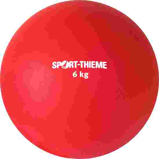 Sport-Thieme Stootkogel  van kunststof 6 kg, rood, ø 140 mm
