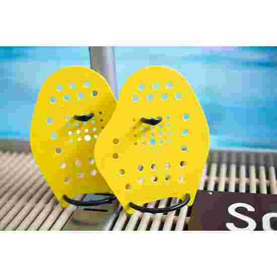 Sport-Thieme Swim-Power Paddles Maat M, 21x18 cm, geel
