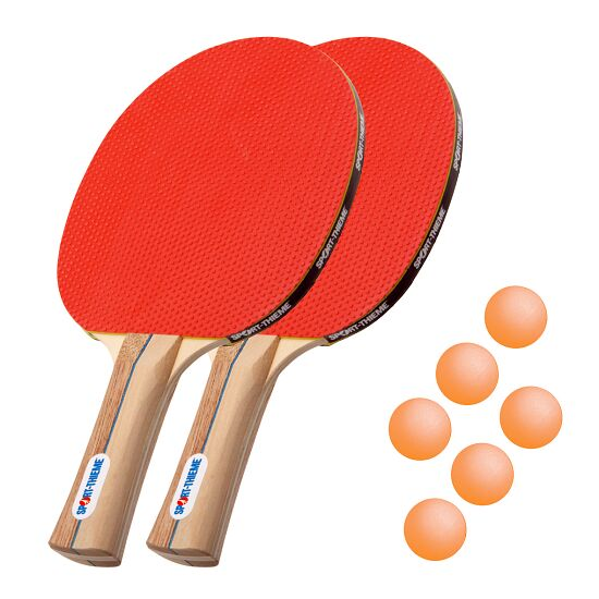 "Sport-Thieme Tafeltennisbat-Set ""Rom"" Oranje balletjes"