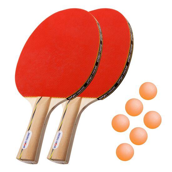 """Sport-Thieme® Tafeltennisbat-Set """"Wien"""" Oranje balletjes"""
