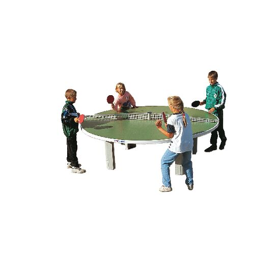 """Sport-Thieme® tafeltennistafel """"Rondo"""" van polymeerbeton Groen"""