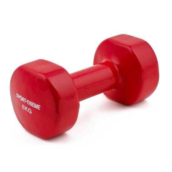 Sport-Thieme® Vinyl Handhalter 6 kg, donkerrood