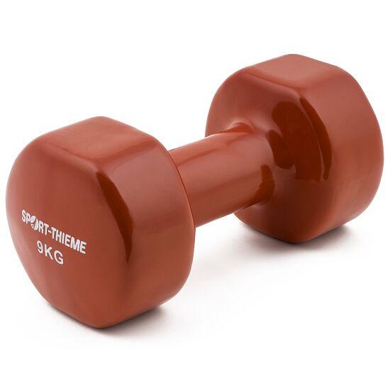 Sport-Thieme® Vinyl Handhalter 9 kg, bruin