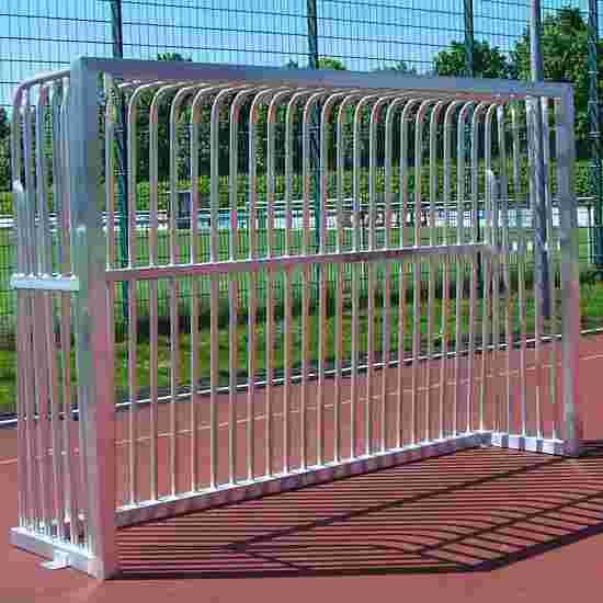 Sport-Thieme Volledig gelast Trapvoetbaldoel Vierkantprofiel 80 x 80 mm, 300x200x70 cm