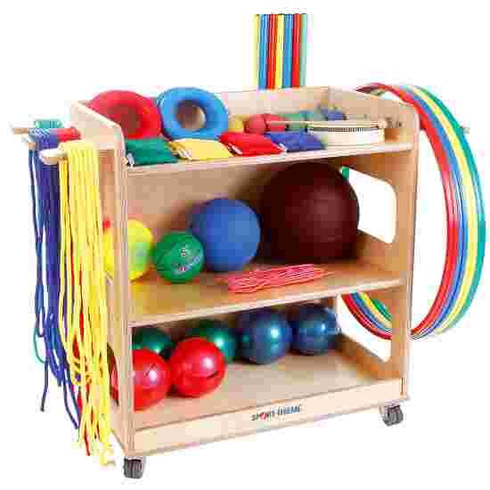 Sport-Thieme voor kleuterspeelzaal en lagere school Met opbergwagen