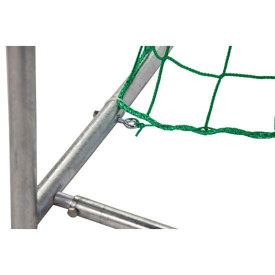 Sport-Thieme® Zaalhandbaldoel 3x2 m, in grondbussen staand Vastgeschroefde hoekverbindingen, Zwart-zilver