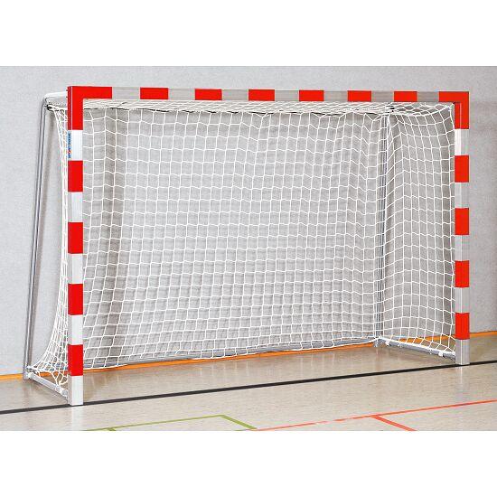Sport-Thieme® Zaalhandbaldoel 3x2 m, in grondbussen staand Vastgeschroefde hoekverbindingen, Rood-zilver