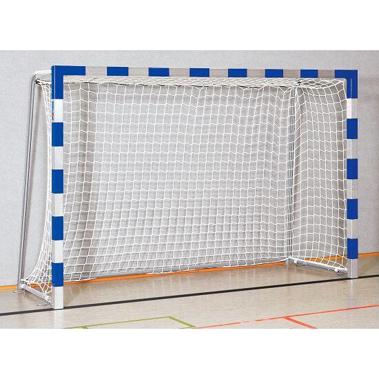 Sport-Thieme® Zaalhandbaldoel 3x2 m, in grondbussen staand Vastgeschroefde hoekverbindingen, Blauw-zilver