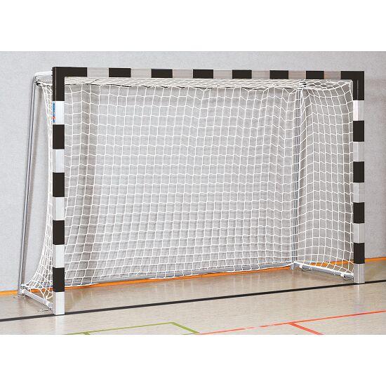 Sport-Thieme Zaalhandbaldoel 3x2 m, in grondbussen Vastgeschroefde hoekverbindingen, Zwart-zilver