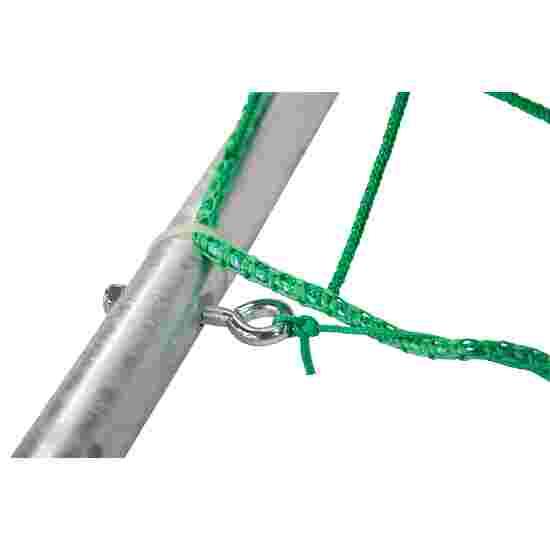Sport-Thieme Zaalhandbaldoel 3x2 m,  om in grondbussen te plaatsen met inklapbare netbeugels Vastgeschroefde hoekverbindingen, Zwart-zilver