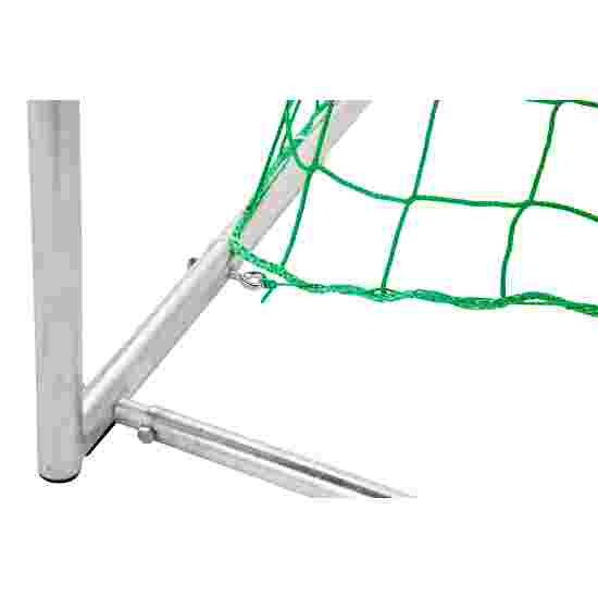 Sport-Thieme Zaalhandbaldoel 3x2 m, vrijstaand met gepatenteerde hoekverbinding Met inklapbare netbeugels, Zwart-zilver