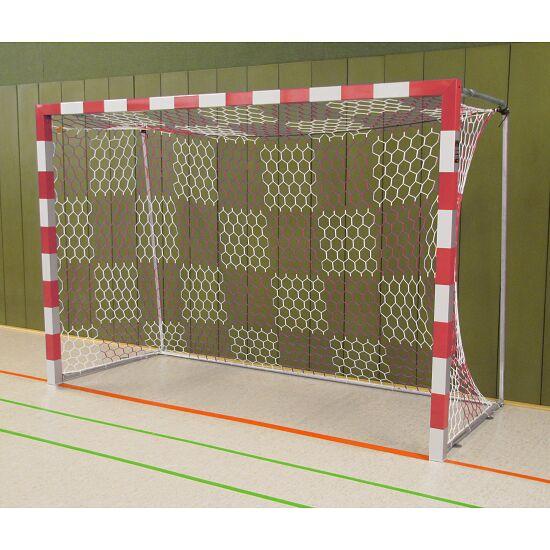Sport-Thieme® Zaalhandbaldoel 3x2 m, vrijstaand Vastgeschroefde hoekverbindingen, Rood-zilver