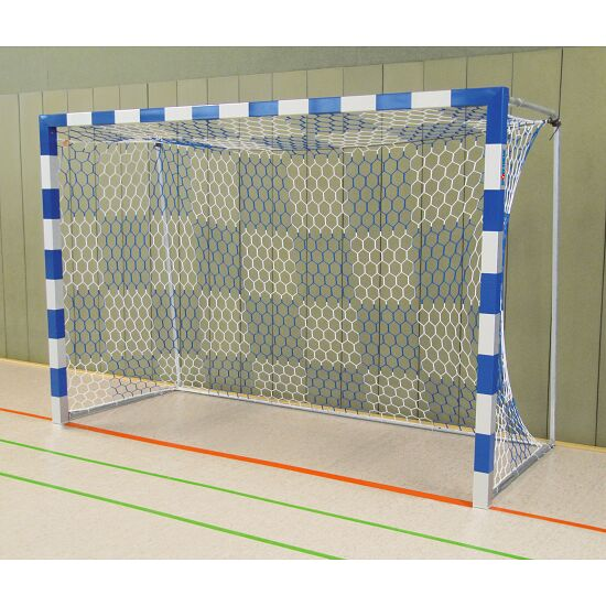 Sport-Thieme® Zaalhandbaldoel 3x2 m, vrijstaand Vastgeschroefde hoekverbindingen, Blauw-zilver