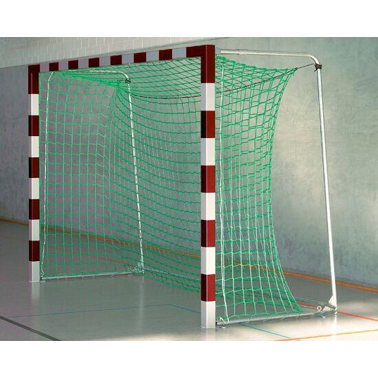 Sport-Thieme® Zaalhandbaldoel 3x2m, in grondbussen staand Met inklapbare netbeugels, Rood-zilver