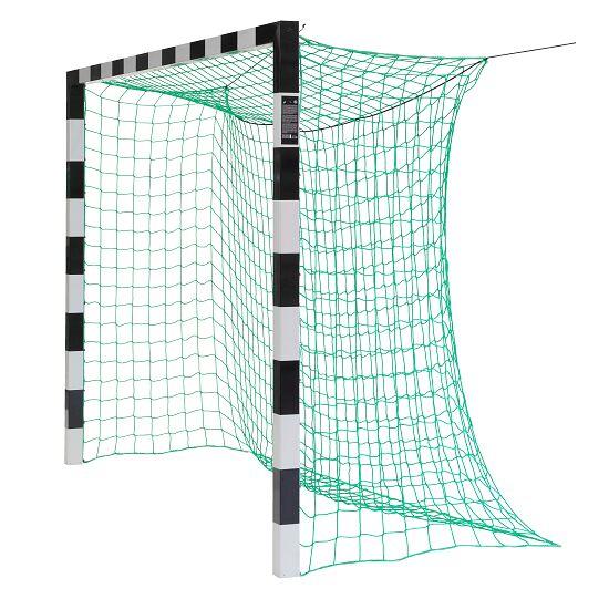 Sport-Thieme Zaalvoetbal 3x2 m, in grondbussen staand met gepatenteerde hoekverbinding Zonder netbeugel, Zwart-zilver
