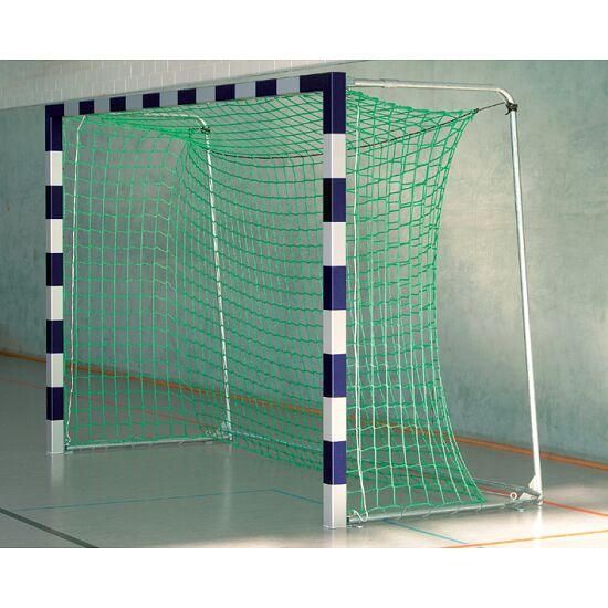 Sport-Thieme Zaalvoetbal 3x2 m, in grondbussen staand met gepatenteerde hoekverbinding Met inklapbare netbeugels, Blauw-zilver