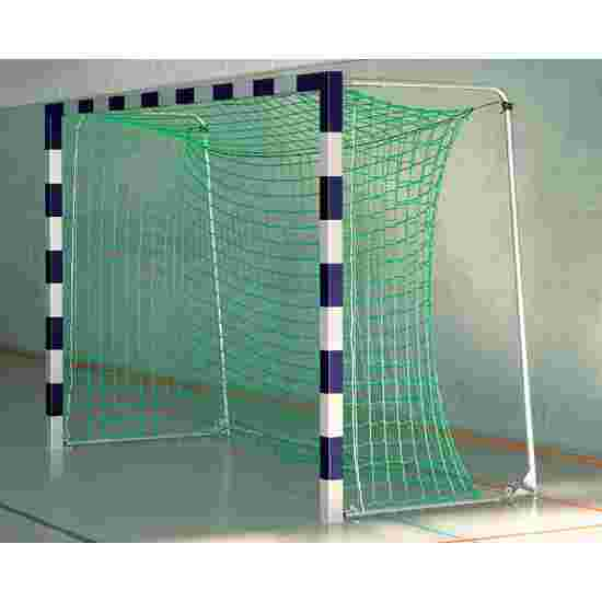 Sport-Thieme Zaalvoetbaldoel 3x2 m, in grondbussen staand met Premium stalen hoekverbinding Met inklapbare netbeugels, Blauw-zilver