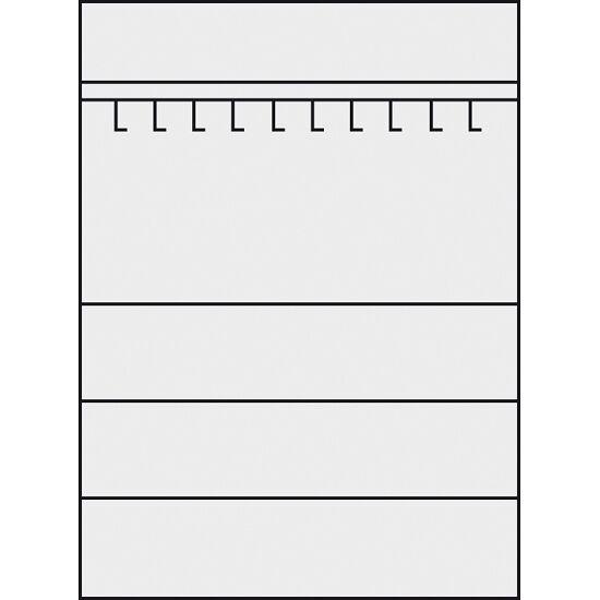 Sportmateriaalkast, hxbxd 195x120x50 cm, met vleugeldeuren van geperforeerde plaat (type 2) Lichtgrijs (RAL 7035), Lichtgrijs (RAL 7035)