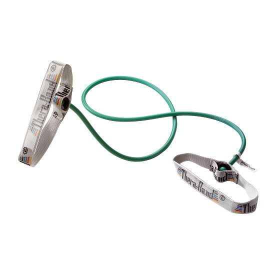 TheraBand Bodytrainer Tubing 1,4 m met handgrepen Groen, zwaar