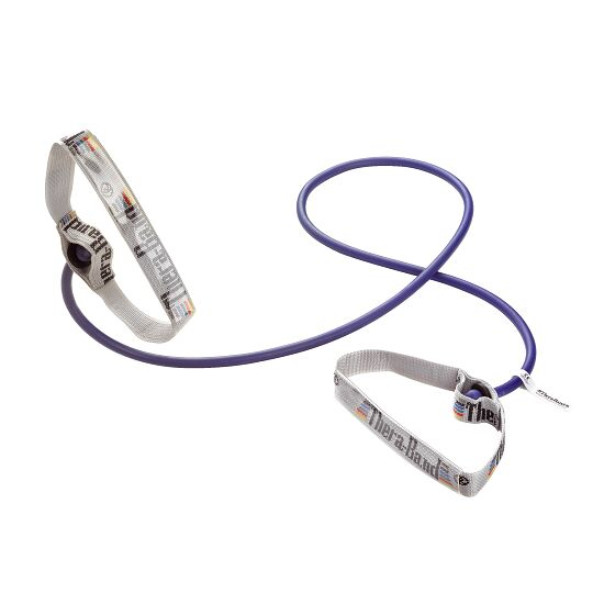 TheraBand Bodytrainer Tubing 1,4 m met handgrepen Blauw, extra sterk